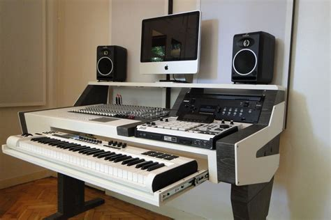 Diy Fully Custom Built Studio Desk B W Gearslutz Com Recording Studio Workstation Desk