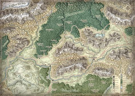 forgotten realms map cartography by mike schley at coroflot
