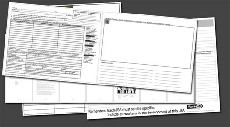 job safety analysis templates   forms  word
