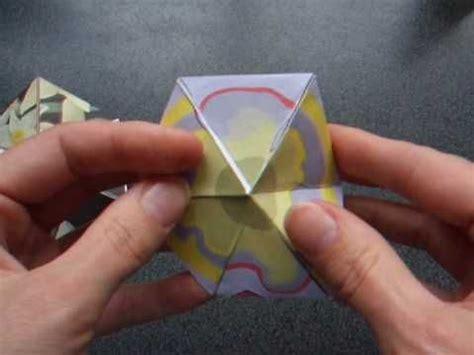 Origami Flexagon - how to make a flexagon kaleidocycle flexagon