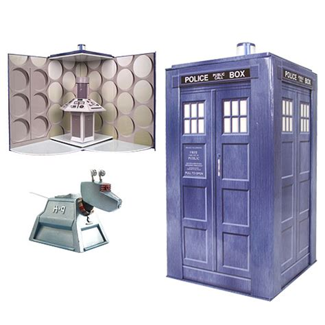 k 9 figure doctor who tardis collectible set with k 9 figure bif