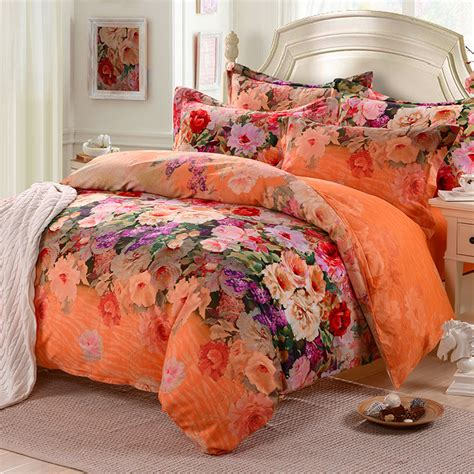 pastoral hibiscus flower bedding comforter set 100 cotton
