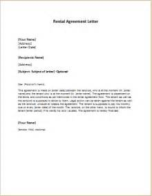 Lease Agreement Letter Template by Rental Agreement Letter Template Word Excel Templates
