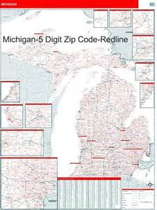 Michigan Zip Codes Map by Michigan Zip Code Map With Wooden Rails From Onlyglobes Com