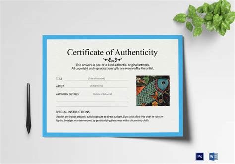 certificate of authenticity template word certificate of authenticity template 27 free word pdf