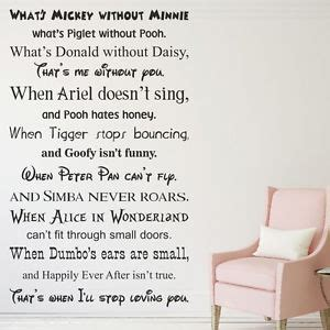 Mickey And Minnie Mouse Home Decor What S Mickey Without Minnie Vinyl Wall Sticker Quote