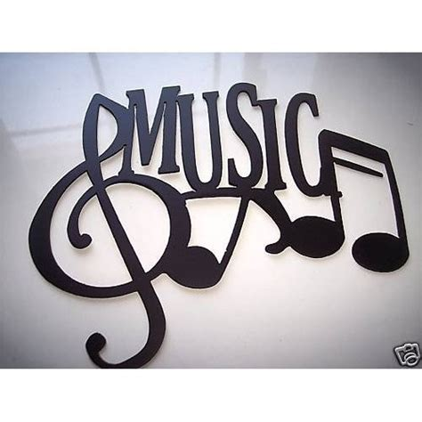 Music Wall Decor by Metal Wall Art Music Word With Notes By Sayitallonthewall
