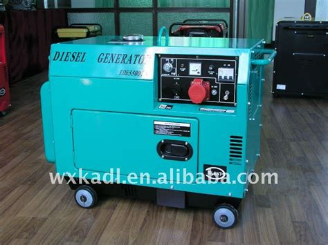factory price 5kva silent diesel generator kde5500t3