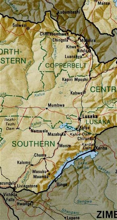 5 themes of geography for zambia zambia maps including outline and topographical maps