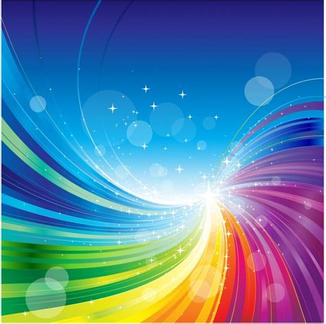 Abstract Rainbow Colors Wave Background Free Vector In All Backgrounds Color