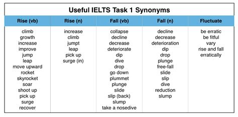 useful synonyms useful words for writing an ielts graph essay magoosh