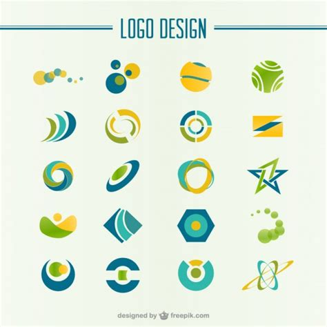 free logo design commercial use green and yellow abstract logo vector free download