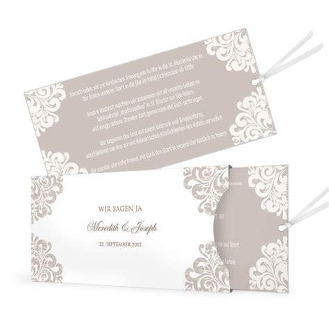Einladung Hochzeit Einsteckkarte by Edle Hochzeitseinladung In Barockem Design Als Einsteckkarte