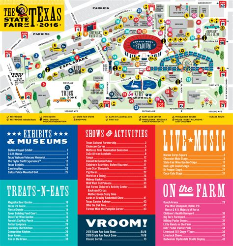 state fair texas map fairgrounds map state fair of texas