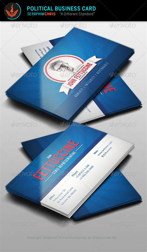 political caign business card templates political business card template graphicriver