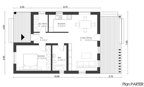 small space floor plans proiecte casa camera small one room house plans building