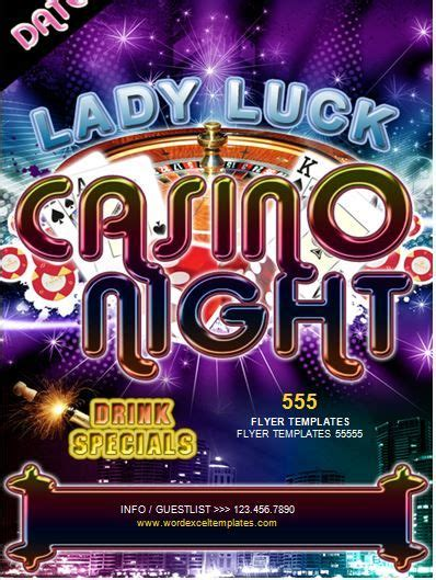 Casino Night Flyer Template Word Business Templates Pinterest Casino Night And Template Casino Fundraiser Flyer Template