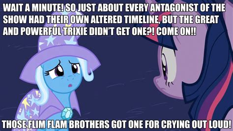 Trixie Meme - poor trixie by greenmachine987 on deviantart
