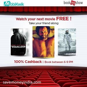bookmyshow xxi bookmyshow movie tickets 100 cashback savemoneyindia
