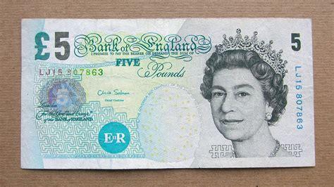 gbp bank 5 pounds banknote five pounds sterling