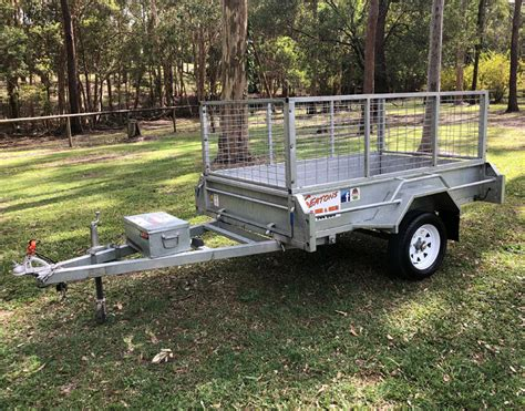 boat trailer hire qld 7 x 4 2m x 1 2m caged trailer hire seatons