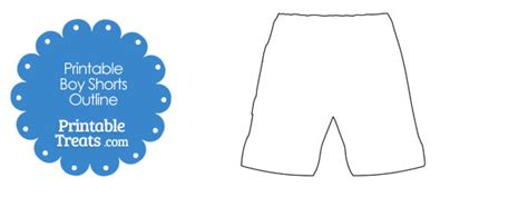 shorts template printable boy shorts shape template