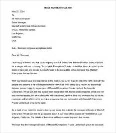 Full block style business letter of complaint cover letter example