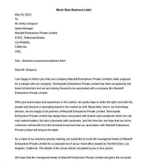 business letter template free business letter template 44 free word pdf documents