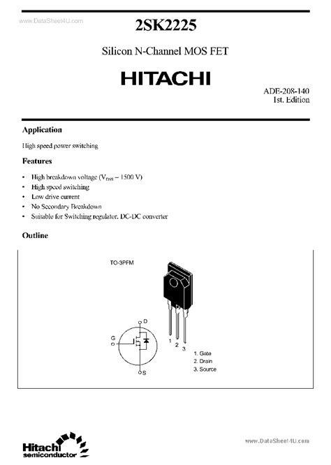 k2225 138190 pdf datasheet ic on line