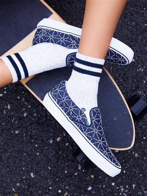 Vans Denim Slip On vans quilted denim classic slip on sneaker at free