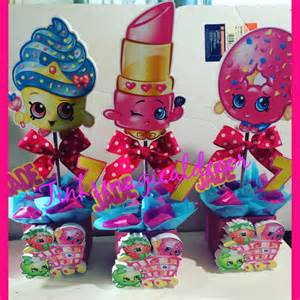 Candy Containers For Favors 6 Shopkins Birthday Centerpieces