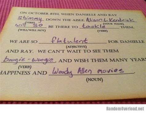 Best wedding response card ever   RandomOverload
