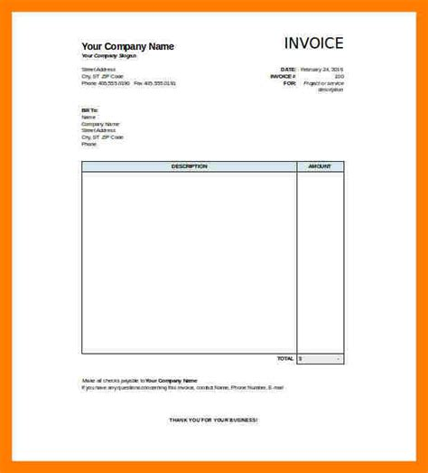 half page invoice template blank invoice sles 7 blank invoice template printable