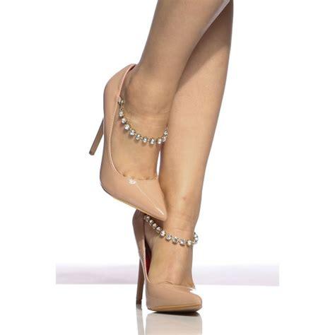 Blush Bridesmaid Shoes by Blush Wedding Heels Pointy Toe Rhinestone Stiletto Heel