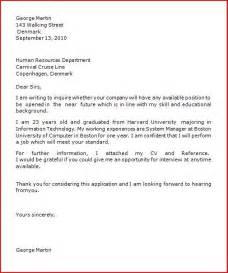tourist visa application cover letter