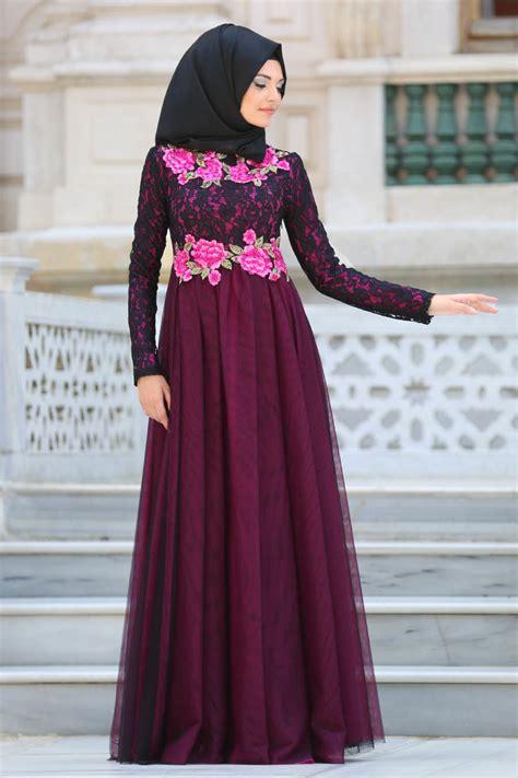 Gaun Pesta Prisket Brukat Cantik baju gamis pesta kombinasi sifon muslimah fashion baju