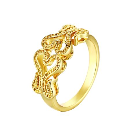 18k gold plated ring zircone wholesale rings for