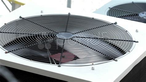 air conditioner fan not spinning outside air conditioner fan blade spinning stock footage