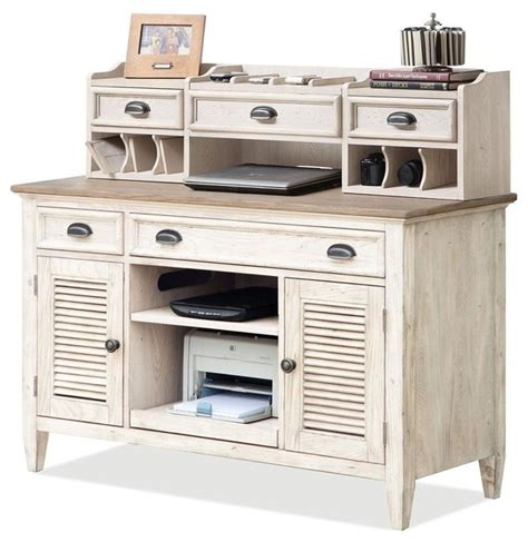 small writing desk with hutch coventry two tone credenza desk with small hutch