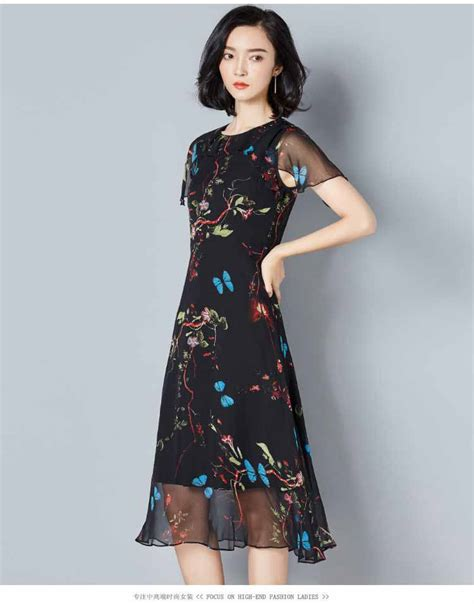 dress warna hitam motif cantik myrosefashion