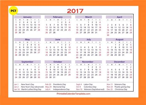 2017 yearly calendar landscape 09 free printable templates