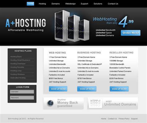 Hosting Template webhosting template free