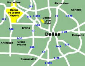 Dallas Airports Map by North America Maps Map Pictures