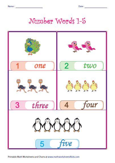 theme based names printable number names charts