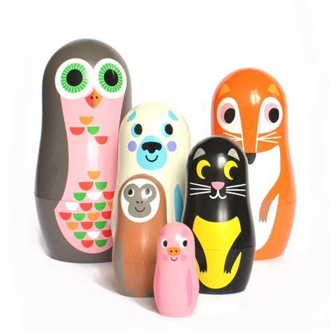 Leo amp bella omm design studio matryoshka nesting dolls animal series 2