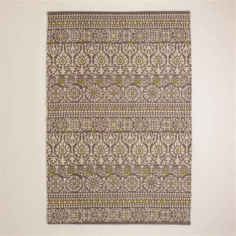 World Market Outdoor Rugs 4 X6 Gray Floral Print Indoor Outdoor Rug World Market