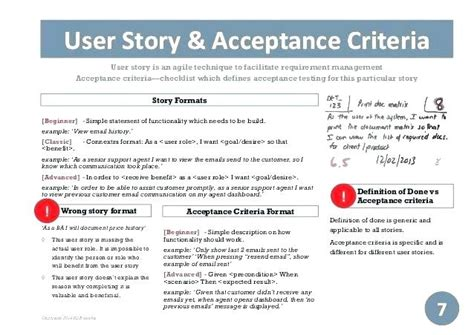 scrum user stories template user stories template agile spreadsheet project charter