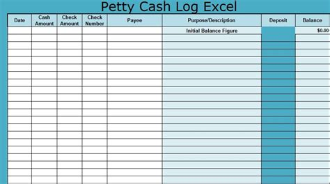 petty book template free petty log excel template free invoice templates