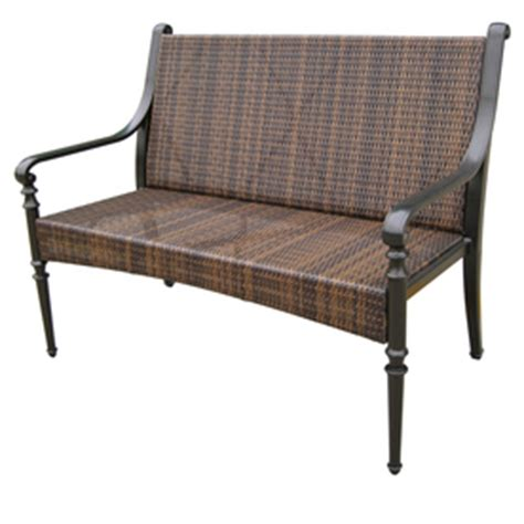 shop garden treasures 45 quot l all weather wicker bench at