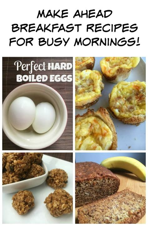make ahead food gift make ahead breakfast recipes for busy mornings